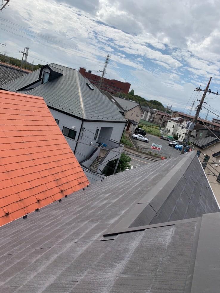 とても傾斜のきつい屋根でした💦